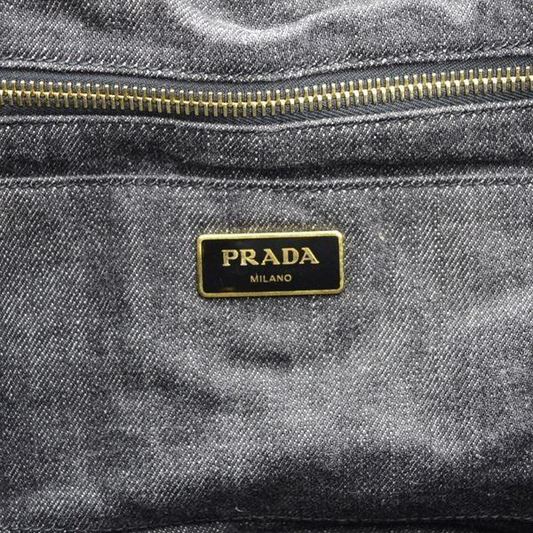 PRADA / プラダ  カナパ 2WAYショルダーハンドバッグ ブラック