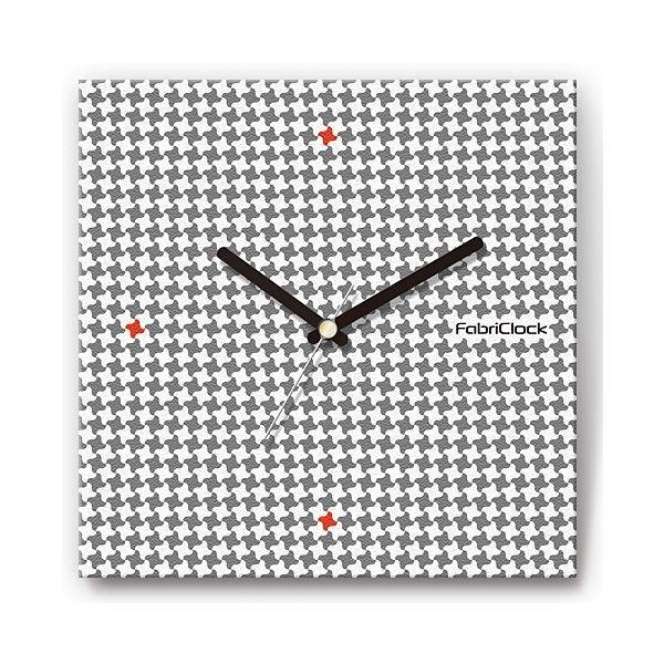 壁掛け時計 小千鳥 ファブリクロック ファブリック ウォールクロック 掛時計 壁時計 かけ時計 スイープ とけい|shop-askm