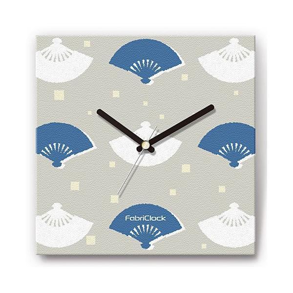 壁掛け時計 扇子 ファブリクロック ファブリック ウォールクロック 掛時計 壁時計 かけ時計 スイープ とけい せんす|shop-askm