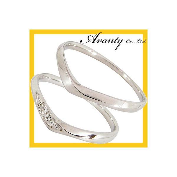 結婚指輪 安い プラチナ マリッジリング ペアリング ペアセット プラチナ950 Pt950 天然ダイヤモンド 0.02ct 2本セット
