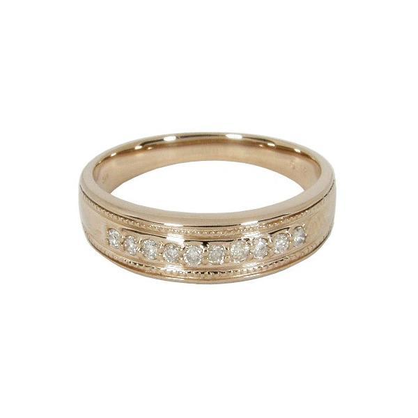 エタニティリング ダイヤモンドリング指輪 K18 0.12カラット 0.12ct K18ピンクゴールド K18PG ダイヤリング 誕生日 結婚記念日 結婚指輪 マリッジリング