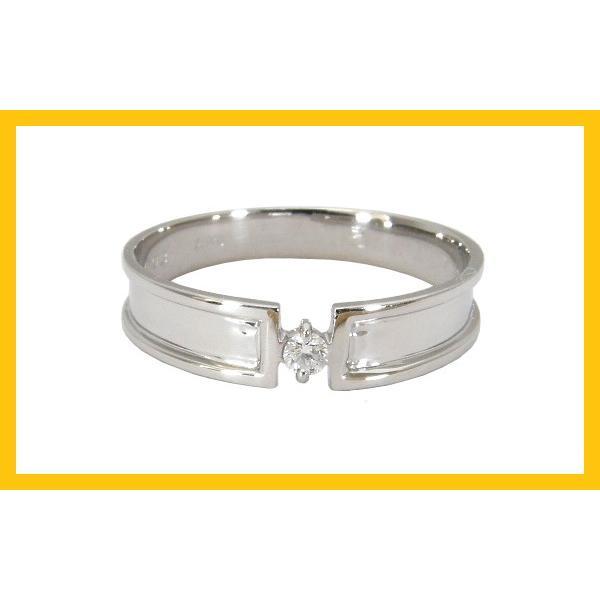 結婚指輪 安い プラチナ マリッジリング ペアリング ペアセット プラチナ900 Pt900 1粒ダイヤモンド 0.03ct 2本セット