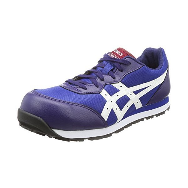 アシックス ワーキング安全靴/作業靴ウィンジョブCP201JSAAA種先芯耐滑ソールメンズインディゴブルー/ホワイト25.5c