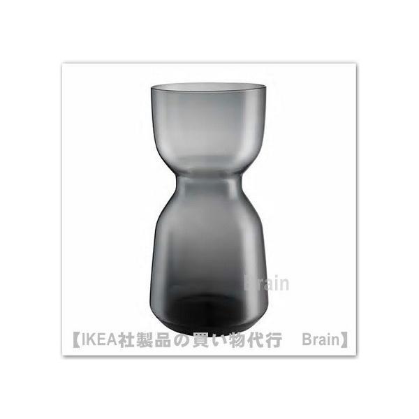 IKEA/イケア OMTANKSAM 花瓶30 cm ダークグレー