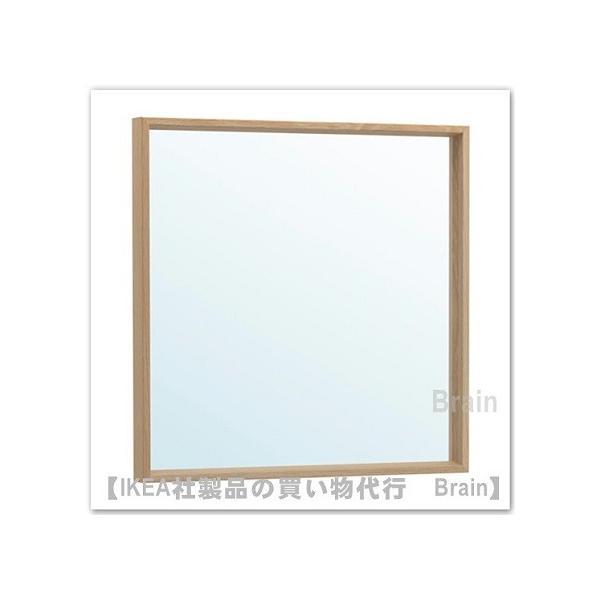 RoomClip商品情報 - IKEA/イケア NISSEDA ミラー65x65 cm ホワイトステインオーク調