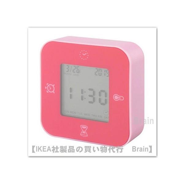 IKEA/イケア KLOCKIS 時計/温度計/アラーム/タイマー ピンク