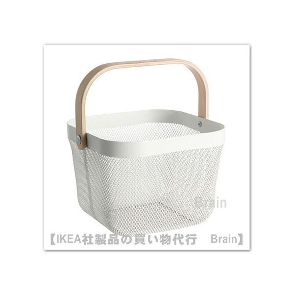 IKEA/イケア RISATORP  バスケット25x26x18 cm ホワイト