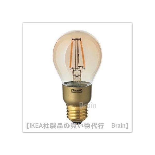IKEA/イケア LUNNOM LED電球 E26/400ルーメン ブラウンクリアガラス