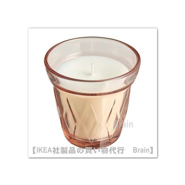 IKEA/イケア VALDOFT 香り付きキャンドル グラス入り8 cm リンゴンベリー/ピンク