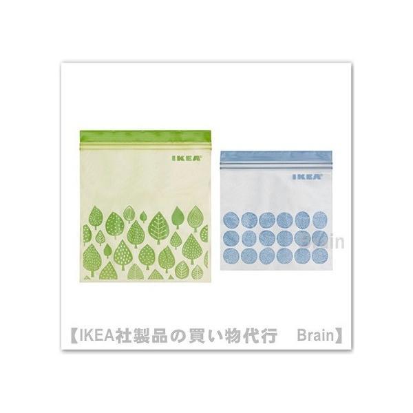 IKEA/イケア ISTAD プラスチック袋 50枚セット グリーン/ブルー