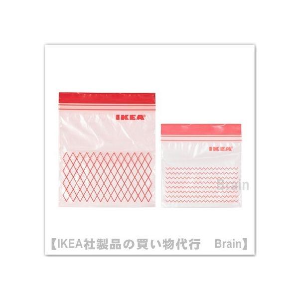 IKEA/イケア ISTAD プラスチック袋 60枚セット レッド