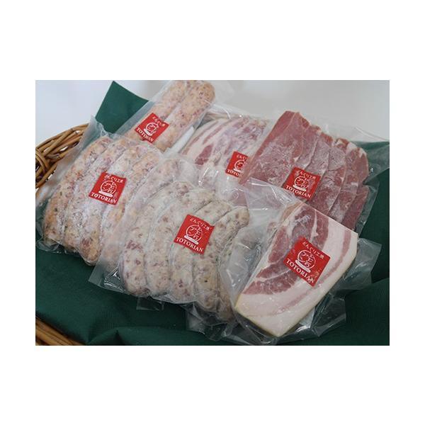 送料無料 ととりこ黒豚 森の恵み セット 冷凍  父の日 お肉 肉 豚肉 ハム ギフト ベーコンブロック 黒豚 ソーセージ 詰め合わせ フランクフルト 内祝|shop-daisenbou|02