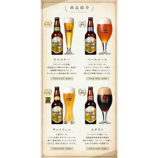 大山G ビール 8本 セット ビール 父の日 詰め合わせ 地ビール 国産ビール ギフト ギフトセット 内祝い ピルスナー ペールエール ヴァイツェン 飲み比べ|shop-daisenbou|03