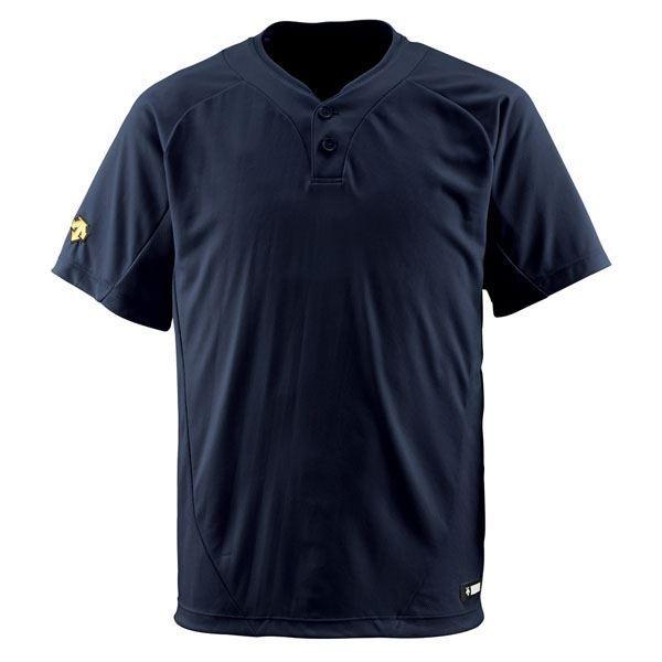 デサント(DESCENTE) ベースボールシャツ(2ボタン) (野球) DB201 ブラック XA