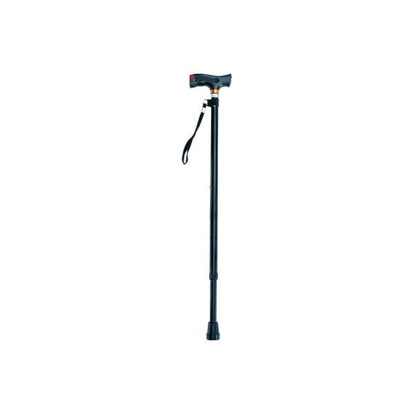 ナカバヤシ LEDブザー付伸縮ステッキ RQS-L101BK ブラック