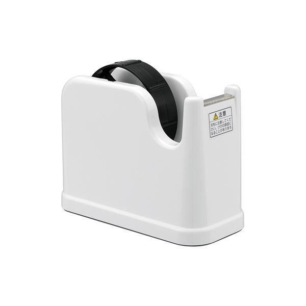 (業務用セット) テープカッター NTC-201-W ホワイト〔×10セット〕