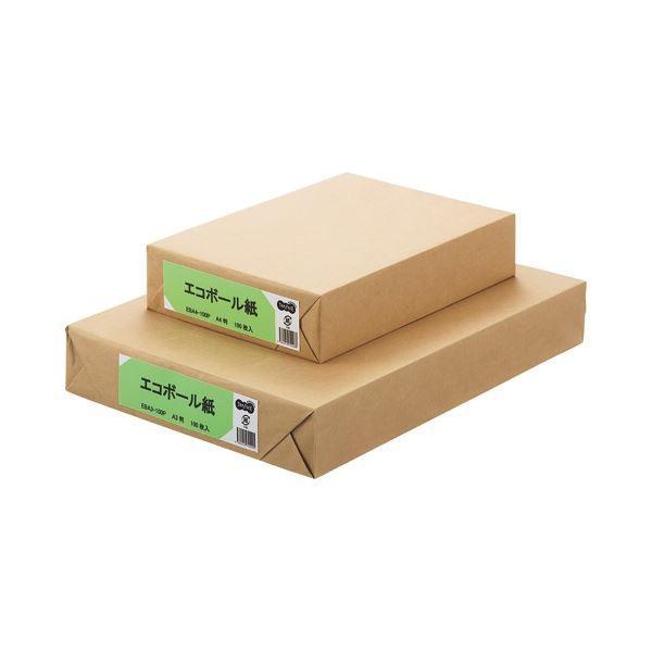 (まとめ) TANOSEE エコボール紙 A4 450g/m2 1パック(100枚) 〔×5セット〕