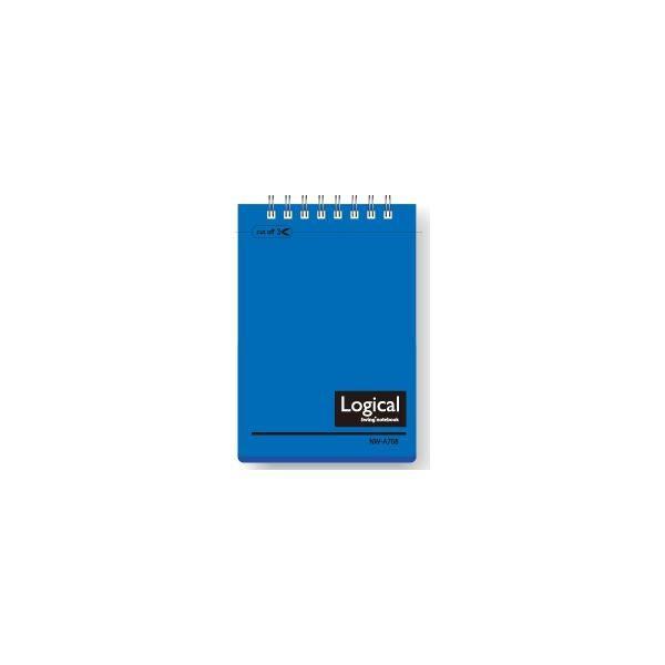 (業務用セット)ナカバヤシ スイング・ロジカルノート/Wリング A7 B罫 PP表紙 ブルー NW-A708-B〔×20セット〕