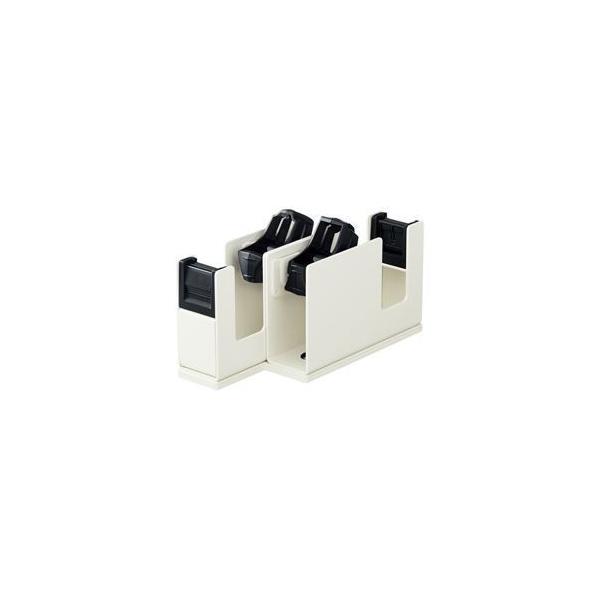 (まとめ) コクヨ テープカッター カルカット 2連 ライトグレー 型番:T-SM110LM 単位:1台 〔×2セット〕