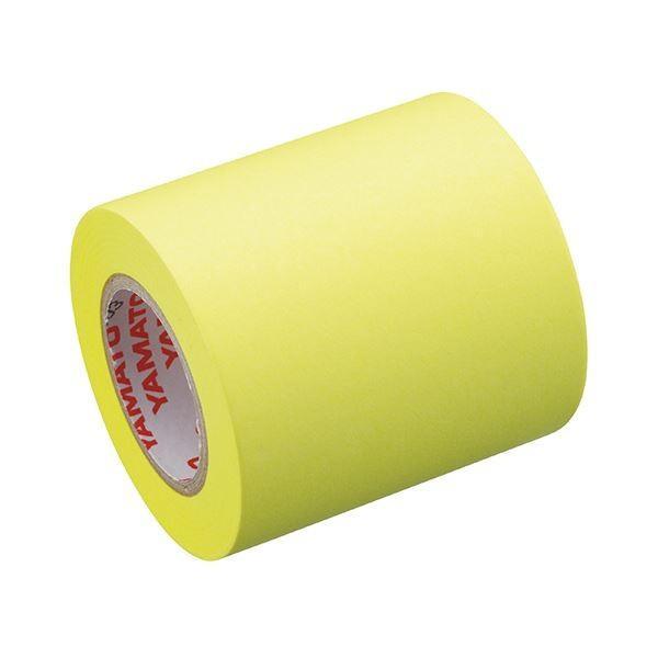 (まとめ) ヤマト メモック ロールテープ 蛍光紙詰替用 50mm幅 レモン RK-50H-LE 1巻 〔×30セット〕