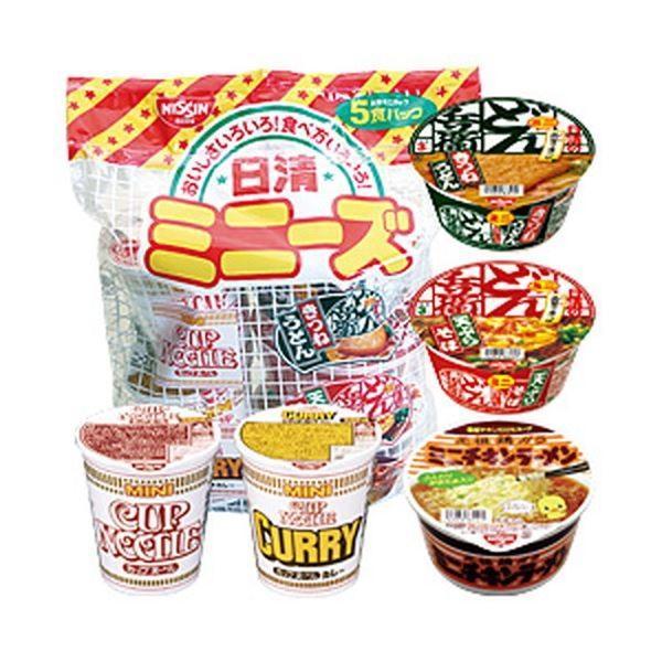 (まとめ)日清食品 日清ミニーズ 1パック(5個)〔×10セット〕