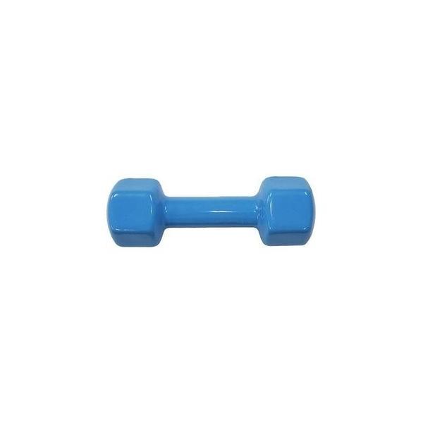 カラー 鉄アレー/ダンベル 〔3kg×6本〕 ブルー ビニールコーティング 防滑 防傷 転がりにくい仕様 〔スポーツ用品 運動用品〕