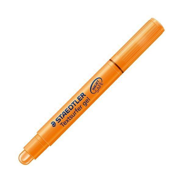 (まとめ) ステッドラー 固形蛍光マーカー テキストサーファーゲル オレンジ 264-4 PB JP 1本 〔×100セット〕