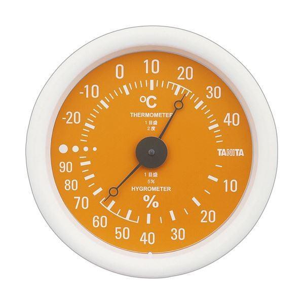 (まとめ)タニタ アナログ温湿度計 オレンジTT-515-OR 1個〔×5セット〕