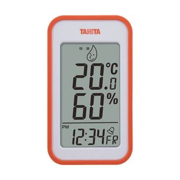 (まとめ)タニタ デジタル温湿度計 オレンジTT559OR 1個〔×5セット〕