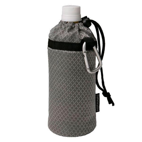 ペットボトルカバー/ボトルホルダー 〔500ml用 シルバー 3個セット〕 保冷・保温対応 折りたたみ トルネ 〔アウトドア〕