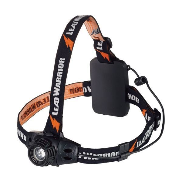 オーム電機 LED防水ヘッドライト260 ヘルメットホルダー付 LC-SY332-K 1個