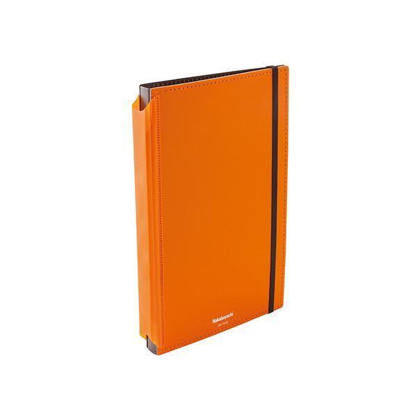 (まとめ) ナカバヤシ 折りたたみクリップボード A4判タテ型(二つ折りタイプ) オレンジ 〔×5セット〕