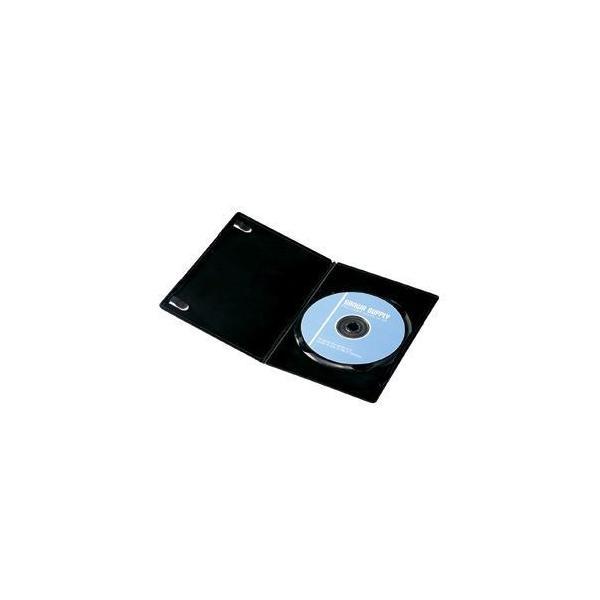 〔訳あり・在庫処分〕サンワサプライ スリムDVDトールケース(1枚収納) ブラック DVD-U1-10BK