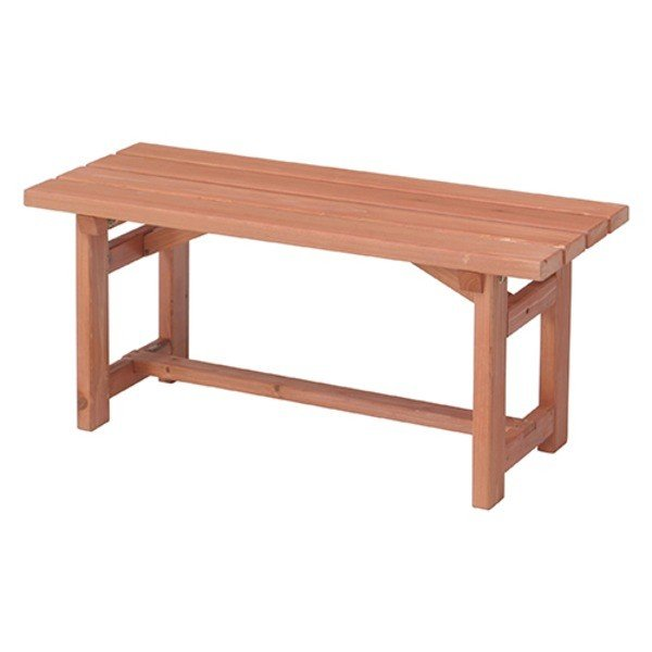 木製ベンチ90 天然木(杉) 高さ40cm (室内/屋外/ガーデニング)〔組立品〕〔代引不可〕
