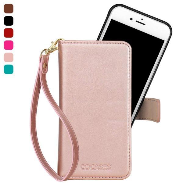 iPhone7Plus iPhone8Plus ケース PUレザー COCASES 手帳型 アイフォン7/8プラス マグネット式 取り外し可|shop-frontier