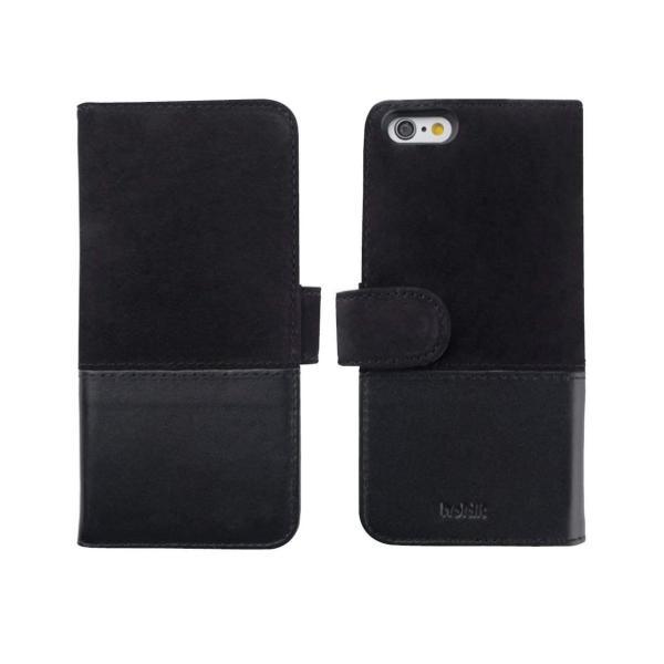 Holdit iPhone8/7/6s/6 本革 手帳型ケース スエードレザー Skrea/Black 北欧 スウェーデン ブランド ハンド|shop-frontier