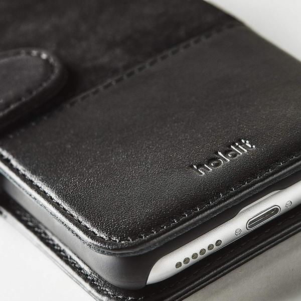 Holdit iPhone8/7/6s/6 本革 手帳型ケース スエードレザー Skrea/Black 北欧 スウェーデン ブランド ハンド|shop-frontier|03