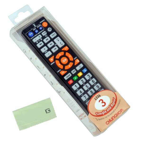 (inkint)マルチAVリモコン ユニバーサル英語TVスマートIRリモコン 学習機能 ABS素材 ブラック
