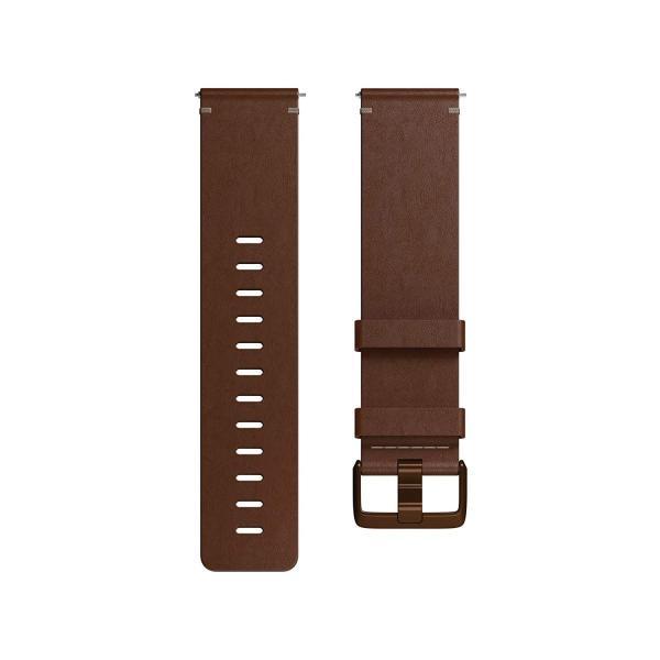 Fitbit フィットビット Versa 専用 純正 交換用 レザー リストバンド Cognac コニャック Sサイズ日本正規品 FB166