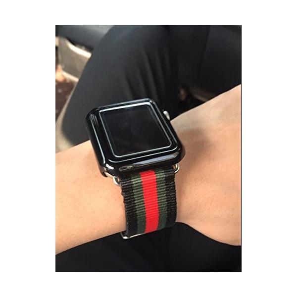 ために iWatchシリーズ1/2/3スポーツ版の42ミリメートルのための贅沢なナイロン製の時計ストラップバンド耐久性のある赤/緑/黒