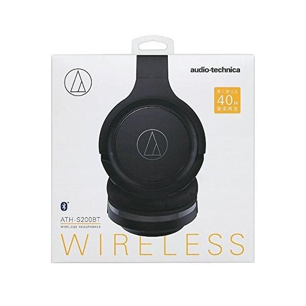 オーディオテクニカ Bluetooth対応ワイヤレスヘッドホン(ブラック)audio-technica ATH-S200BT BK|shop-frontier|03