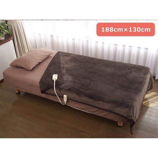 LIFEJOY 洗える 日本製 電気毛布 掛け敷き兼用 ふわふわ 188cm×130cm ベージュ JBK801F-C