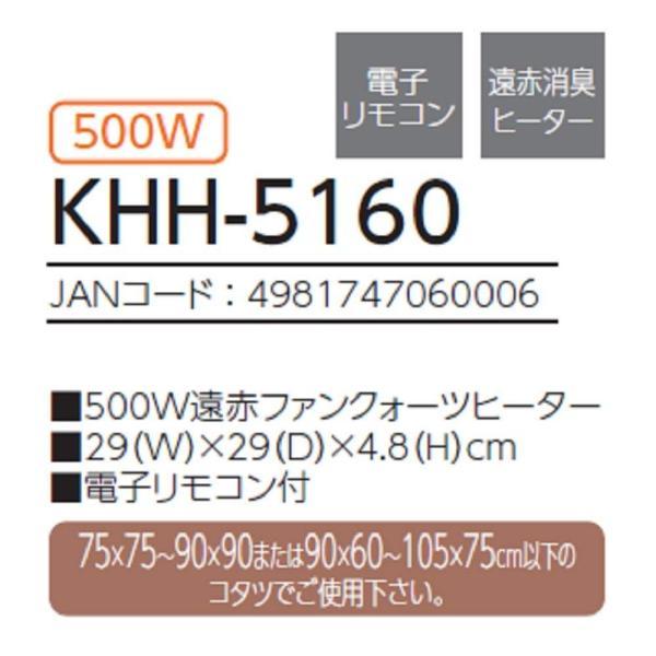 コイズミ コタツ用 ヒーターユニット 500W 遠赤消臭ヒーター KHH-5160