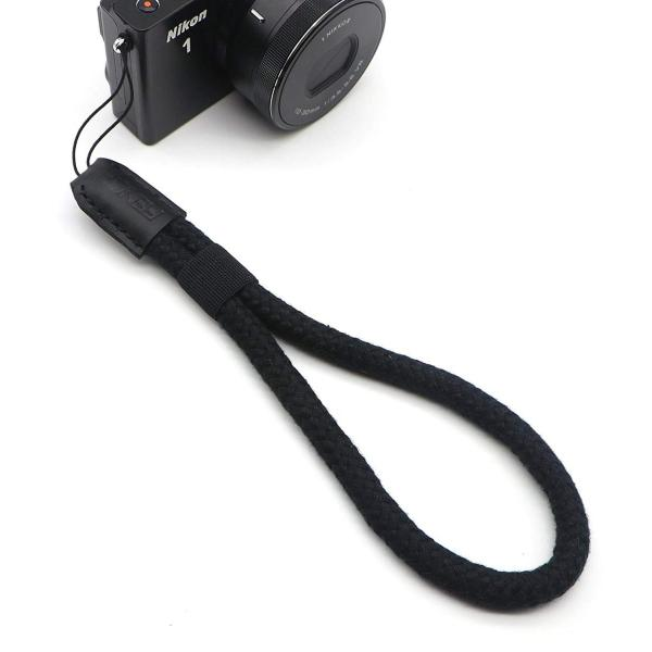INPON ハンドストラップ ミラーレス/コンパクトカメラ用 ブラック 線径10mm