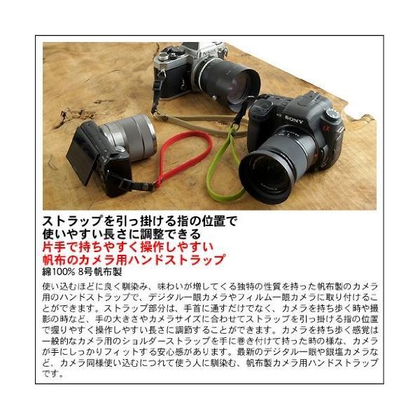 バンナイズ 片手 で 持ちやすく 操作しやすい 帆布 の カメラ 用 ハンド ストラップ (8号 帆布 製/カラー : ブラック)
