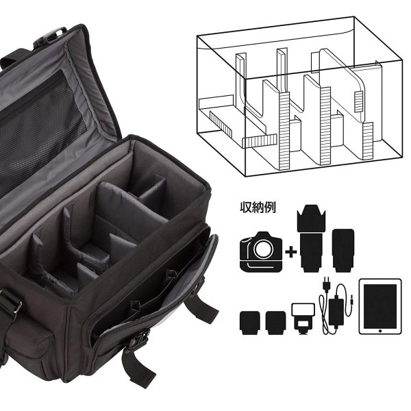 HAKUBA カメラバッグ ルフトデザイン リッジ 02 ショルダーバッグ L 16.7L 望遠レンズを付けたまま横向き収納 カモフラージュ|shop-frontier