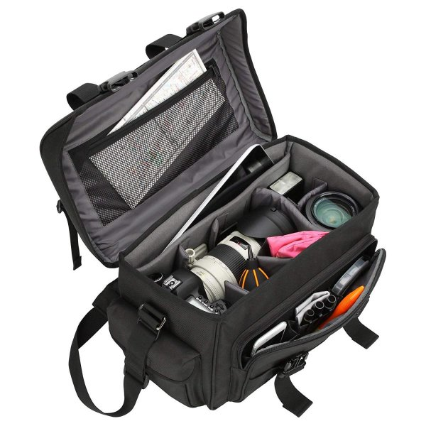 HAKUBA カメラバッグ ルフトデザイン リッジ 02 ショルダーバッグ L 16.7L 望遠レンズを付けたまま横向き収納 カモフラージュ|shop-frontier|04