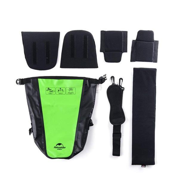 一眼レフ用 ショルダーバッグ カメラ用ケース 完全防水スリングバッグ 防雨耐風 襲撃吸収 セミソフトケース(グリーン)