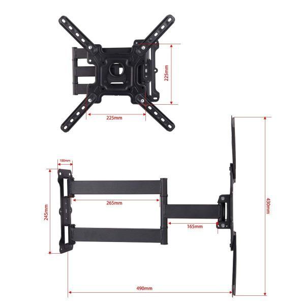 テレビ壁掛け 32-52インチLED LCD コンピュータモニタ4K 液晶テレビ対応 上下左右 角度調節可能 VESA対応 最大400*40