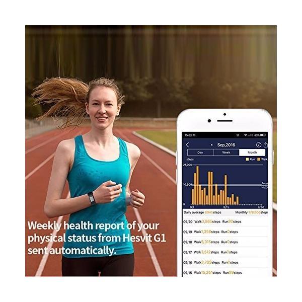 スマートブレスレット Bluethooth4.0 心拍数/活動量計/歩数計/温度/睡眠検測 心拍モニター付き 健康モニター 多機能スマートウ